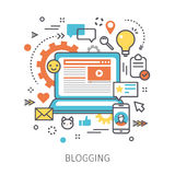 Conceito de blogging Imagens de Stock