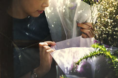 Conceito de Botany Bouquet Blooming do florista da loja do florista imagens de stock royalty free