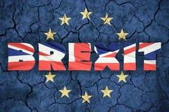 Conceito de Brexit Fotografia de Stock Royalty Free