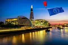 Conceito de Brexit em Londres imagens de stock