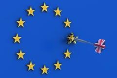 Conceito de Brexit na Grâ Bretanha Imagens de Stock Royalty Free