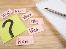 Conceito 4 de Busniess das perguntas Foto de Stock