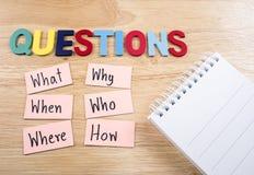 Conceito 23 de Busniess das perguntas Fotografia de Stock Royalty Free