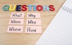 Conceito 24 de Busniess das perguntas Fotografia de Stock