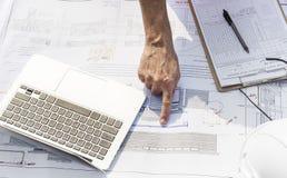 Conceito de Career Structure Construction do arquiteto do modelo Fotografia de Stock
