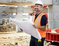 Conceito de Career Structure Construction do arquiteto do modelo Imagem de Stock