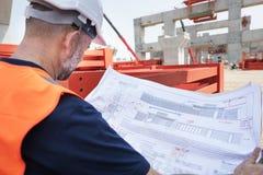 Conceito de Career Structure Construction do arquiteto do modelo Fotos de Stock Royalty Free