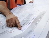 Conceito de Career Structure Construction do arquiteto do modelo Fotos de Stock