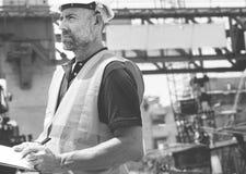 Conceito de Career Structure Construction do arquiteto do modelo Imagens de Stock