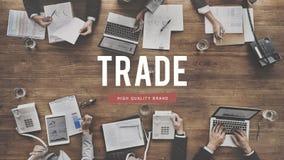 Conceito de comércio do comércio da mercadoria da troca do negócio da troca imagens de stock