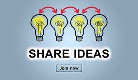 Conceito de compartilhar ideias ilustração stock