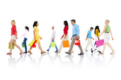 Conceito de compra da venda do consumidor do cliente varejo da compra Foto de Stock Royalty Free
