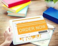 Conceito de compra de compra da compra em linha da ordem Fotografia de Stock