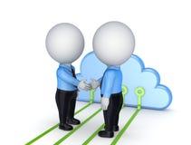 Conceito de computação da nuvem. Fotografia de Stock