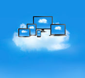 Conceito de computação da nuvem. Imagem de Stock Royalty Free