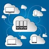 Conceito de computação da nuvem. Fotos de Stock