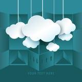 Conceito de computação da nuvem ilustração royalty free