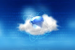 Conceito de computação da nuvem Foto de Stock