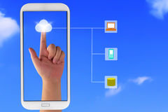 Conceito de computação da nuvem Fotos de Stock Royalty Free
