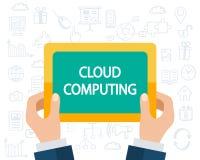 Conceito de computação da nuvem Imagem de Stock Royalty Free