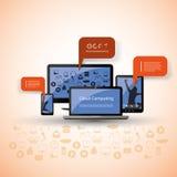 Conceito de computação da nuvem - mobilidade Imagem de Stock