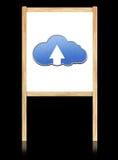 Conceito de computação da nuvem na placa branca Foto de Stock Royalty Free