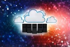 Conceito de computação da nuvem no fundo digital 3d rendem ilustração stock