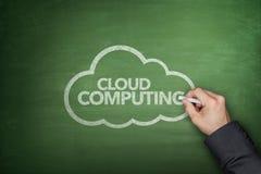 Conceito de computação da nuvem no quadro-negro Imagens de Stock Royalty Free