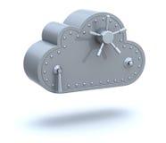Conceito de computação da nuvem segura Fotos de Stock