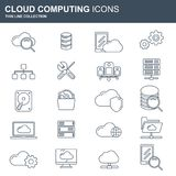 Conceito de computação da nuvem Tecnologia de rede do armazenamento de dados  Índice de multimédios, acolhimento das sites Imagem de Stock