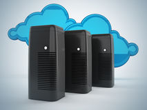 Conceito de computação da rede e da nuvem Foto de Stock
