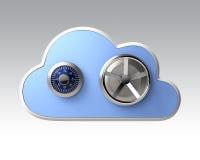 Conceito de computação da segurança da nuvem Fotografia de Stock Royalty Free