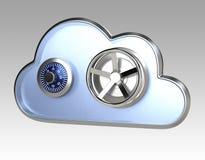 Conceito de computação da segurança da nuvem Fotografia de Stock