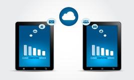 Conceito de computação do serviço da nuvem Fotografia de Stock