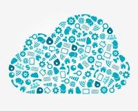 Conceito de computação do serviço da nuvem Imagem de Stock