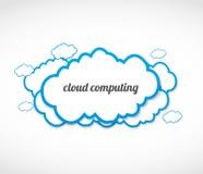 Conceito de computa??o da nuvem Imagens de Stock