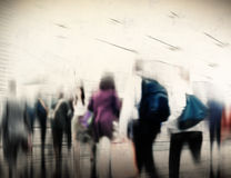 Conceito de comutação de passeio da cidade das horas de ponta ocasionais dos povos Fotos de Stock