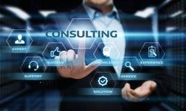 Conceito de consulta do negócio de serviço de assistência do aconselhamento especializado Fotos de Stock Royalty Free