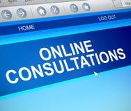 Conceito de consulta em linha Imagem de Stock Royalty Free