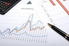 Conceito de contabilidade financeira Imagem de Stock