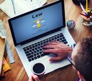 Conceito de controle legal dos regulamentos da corte do controle da lei foto de stock