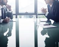 Conceito de Corporate Cooperation Meeting do homem de negócios fotografia de stock royalty free