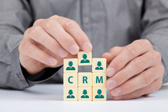 Conceito de CRM Foto de Stock Royalty Free