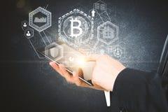 Conceito de Cryptocurrency Foto de Stock