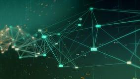 Conceito de dados e da rede grandes Fotos de Stock
