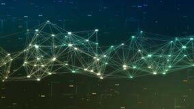 Conceito de dados e da rede grandes Fotos de Stock Royalty Free