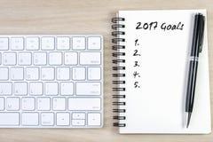 conceito de 2017 definições dos objetivos Imagem de Stock Royalty Free
