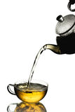 Conceito de derramamento do chá Imagens de Stock