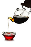 Conceito de derramamento do chá Fotografia de Stock
