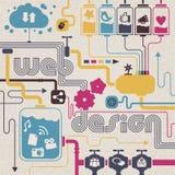 Conceito de design web ilustração royalty free